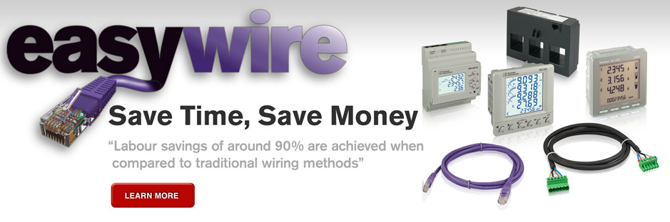 Easywire plug and play rapid installation current transformers and energy metering system.