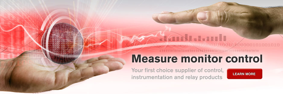 Measure monitor control - your first choice supplier of control, instrumentation and relay products.